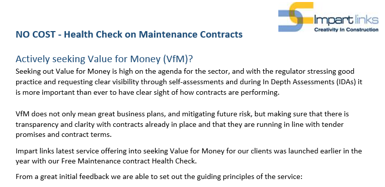NO COST - Health Check on Maintenance Contracts Actively
